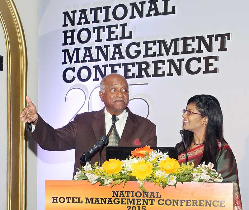 Announcers at the National Hotel Management Conference 2015