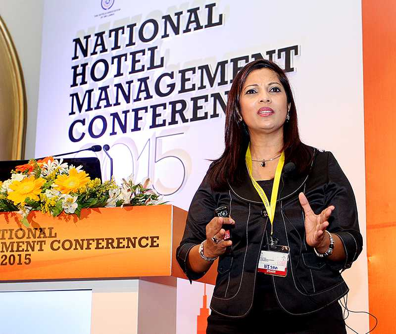 Public speaking at the National Hotel Management Conference