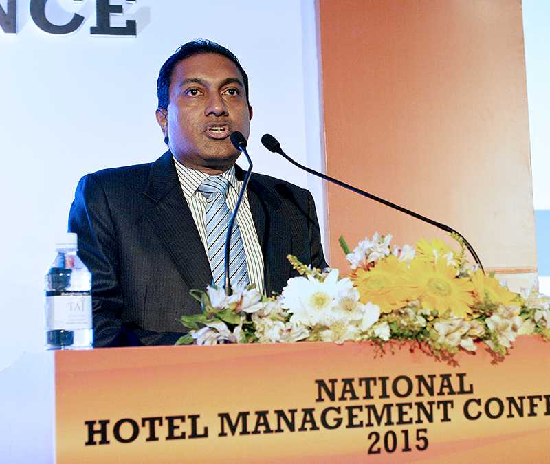 Addressing the gathering at the National Hotel Management Conference