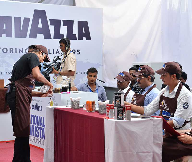 Panel of judges of cocktail competition
