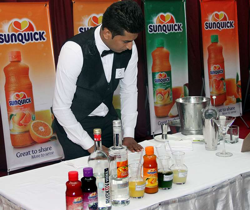 Preparing Cocktails with Sunquick