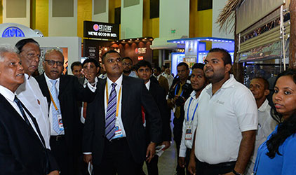 Guests with the Chief of Hotel Show 2016